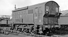 Ex-SR 0-6-0 Diesel-electric shunter 15202 at Hither Green Locomotive Depot, looking north-east in the Locomotive Yard. 12 March 1960
