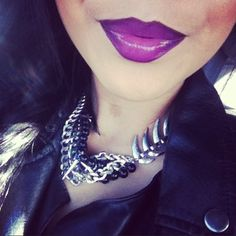 Fierce purple lip!