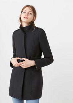Belt wool coat   MANGO