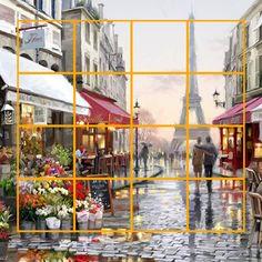 Hoeveel vierkanten tel jij in dit prachtige werk van Richard Macneil? Laat je antwoord achter in de reacties!  Interieur | Schilderijen | Wonen | Interieurideeen | Interieur woonkamer | Decoratie | Woondecoratie | Schilderij woonkamer | Schilderijen abstract | Richard Macneil