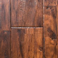 """Sable Acacia, from our Reclamation Plank Collection by Heritage Woodcraft is a hand-scraped (7-7/8"""") wide-plank solid acacia hardwood flooring. It can be nailed down over wooden sub-floors."""