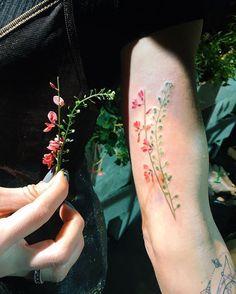 Beautiful Live Botanical And Flower Tattoo