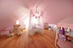 pink princess bedroom