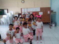 Happy teachers and happy kids