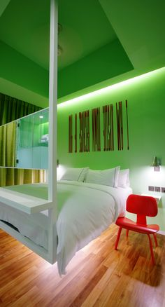 New Majestic hotel - Singapore, Singapore. Idiosyncratic in the extreme, it features rooms designed by the city's biggest creative names, eccentric artworks in every nook, and a vast collection of vintage chairs in the gleaming terrazzo lobby.