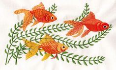 Shubunkin goldfish embroidery design - Google Search