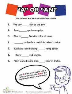 English exercises, English and Worksheets on Pinterest