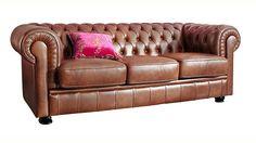 Jetzt Max Winzer® Chesterfield 3-Sitzer Sofa »Kent« im Retrolook, mit edler Knopfheftung günstig im naturloft Online Shop bestellen