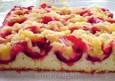 Śliwkowe na maślance Cake Business, Breakfast Menu, Polish Recipes, No Bake Cake, Food Inspiration, Raspberry, Cheesecake, Oven, Food And Drink