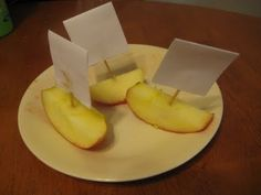 Columbus Day-make sails and stick in apples, chicken nuggets, etc.