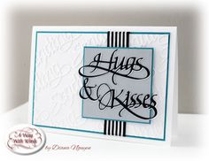 Diana Nguyen, Quietfire Design, Hugs and Kisses, Sending, die cut, CAS