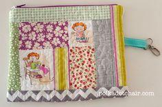 Crafty Chloe Fabric Zippy Pouch - The Polka Dot Chair Diy Zip Pouches, Cute Pencil Pouches, Diy Pouch No Zipper, Zipper Pencil Case, Zipper Bags, Polka Dot Chair, Polka Dot Fabric, Sewing Blogs, Sewing Tutorials
