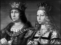 "Ferdinand II of Aragon and Isabella I of Castile:  the monarchs whose marriage created the union of Castile and Aragon which formed the Kingdom of Spain. Because of their religious zeal, they became known as the ""Catholic monarchs.""  They are also known for the reconquest of Granada from the Moors their New World discoveries and their strengthening of the church by such agencies as the Spanish Inquisition and such measures as compelling Jews to convert to Christianity or face exile."