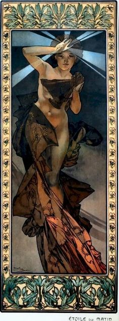 Aphonse Mucha - Morning Star (Art Noveau)