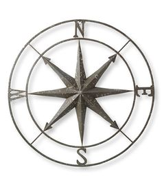 Metal Compass Rose: Wall Decorations at L.L.Bean