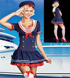 Tierno y atractivo Disfraz de Marinera Sexy Incluye: Vestido, Sombrero y Ligas  Tallas: XL   Precio: $19990 www.exoticprincess.cl