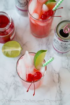 Black Cherry Limeade - a fun and easy cocktail recipe! Add a little sweetness to…
