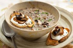 Mushroom soup is a really easy and simple soup recipe to make and can be on the table in under an hour. You can make this homemade mushroom soup recipe in just three steps. This creamy mushroom soup will take around 35 mins to prepare and cook and serves 2 people. Look out for value packs of mushrooms to use if you're planning to prepare this mushroom soup – they don't need to be perfect looking or all the same shape. Large open cup or brown cap mushrooms will give the best flavour, simpl...