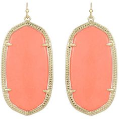 Kendra Scott Danielle Earrings In Coral ($60) ❤ liked on Polyvore