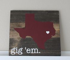 Texas AM College Station Sign State of Texas Wood Sign, Wedding Gift Book on Etsy, $37.99