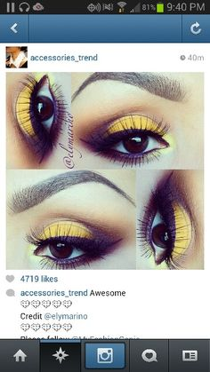 Great for that risk taking brown eyed girl. The purple and yellow will really bring out the beautiful amber.