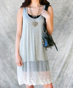 Another great find on #zulily! Heather Gray Kimber Dress by Sawyer Cove #zulilyfinds