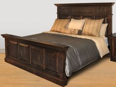 Ruff Sawn Rustic Phillipe Bed
