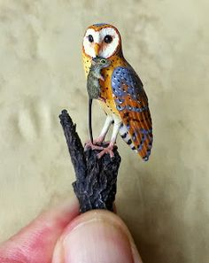 Good Sam Showcase of Miniatures, Barn Owl by Beth Freeman-kane