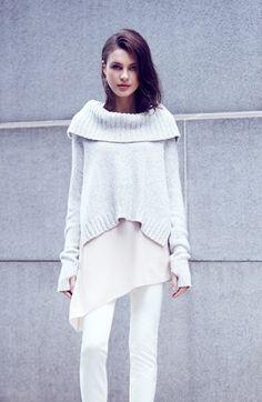 Eileen Fisher Drapey Neck Crop Cashmere Blend Sweater - @nordstrom
