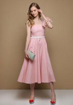 Ροζ φόρεμα πουά Vintage, Style, Fashion, Moda Femenina, Dressmaking, Swag, Moda, Fashion Styles, Vintage Comics