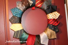 Jenkins Kid Farm: Neck Tie Wreath and Banner - Pies and Ties Party