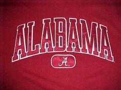 Alabama Crimson Tide NCAA SEC Jansport Team Logo Red Men Fleece Sweatshirt M #Jansport #AlabamaCrimsonTide