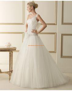 Glamouröse Einschulter Princess-stil rückenfrei Brautkleider 119 ELINA | luna novias 2014
