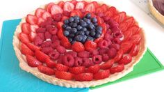 #pie #freshfood #fruits #blueberry #raspberry #strawberry #creamcheese #filling