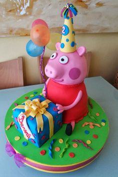 ▷ 1001 + Peppa Wutz Torte ideas for a funny child-▷ 1001 + Peppa Wutz Torte . Little Girl Birthday Cakes, Peppa Pig Birthday Cake, Birthday Snacks, Tortas Peppa Pig, George Pig, Barbie Cake, Animal Cakes, New Cake, Party Treats
