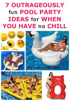 Summer is here, and summer party ideas are high on my list right now especially ideas I can use for the pool. I have been seriously laughing and am losing every ounce of chill I have over the pool party ideas. A giant swan? Floating pizza? How about Emojis bouncing all over the pool? I have to get my hand on all of these. Take a look at all of my ideas below, and see if you can make it through this list of pool party ideas without losing it. Add one or all of these and you'll have an epic…