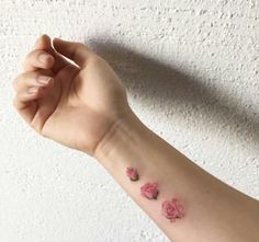 Blooming flower tattoo