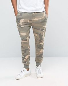 Pull&Bear Joggers In Sand Camo