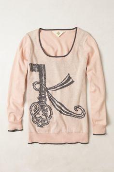 Cheri Monogrammed Pullover, K $98.00