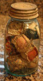 Vintage Quilt Block Mason Jar Craft