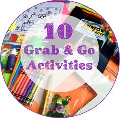 "Today's post is all about quick ""grab and go"" activities for kids. In the hospital, bags of crayons and activity pages are a child life staple. You can engage a kid for quite a while with paper and…"