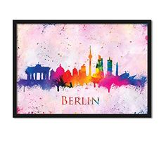 Berlin City Germany Skyline Abstract Watercolor Hanging Wall Office Decor Brandenburg Gate #BerlinCityGermany #BerlinCityGermanySkyline #SkylineWatercolorArt #HomeDecor  https://www.amazon.com/dp/B01N53SYDO/ref=cm_sw_r_pi_dp_x_Lq.lyb8EQKTDK