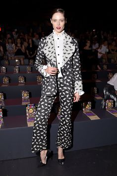 When You Look This Good at Fashion Week, You Have to Sit Front Row Coco Rocha At Anna Sui.