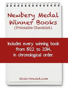 Newbery Medal Winner Books - Printable Checklist