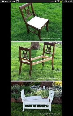 Great use for old chairs