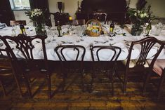 John and Alex's Intimate 30 Guest Reception in the East Tower of Springfield Castle in Ireland. See their gorgeous photos by Stephanie & Ben from Taylor Clark Photography @intimateweddings.com #reception #tabledecor