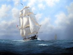 Tim Thompson. USS CONSTITUTION, Old Ironsides. J. Russell Jinishian Gallery, Inc. Nautical Painting, Nautical Art, Uss Constitution Model, Military Crafts, Fleet Of Ships, Ship Paintings, Naval, Love Boat, Wooden Ship