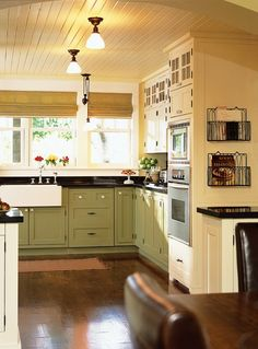 Arts & Crafts Country Kitchen // Photographer Ted Yarwood // House & Home Magazine