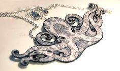 finished octopus necklace by kerinewton.deviantart.com on @deviantART