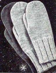 classic mitten knitting pattern.